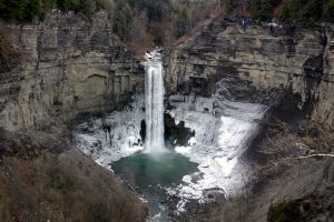 taughannock falls state park waterfall frozen