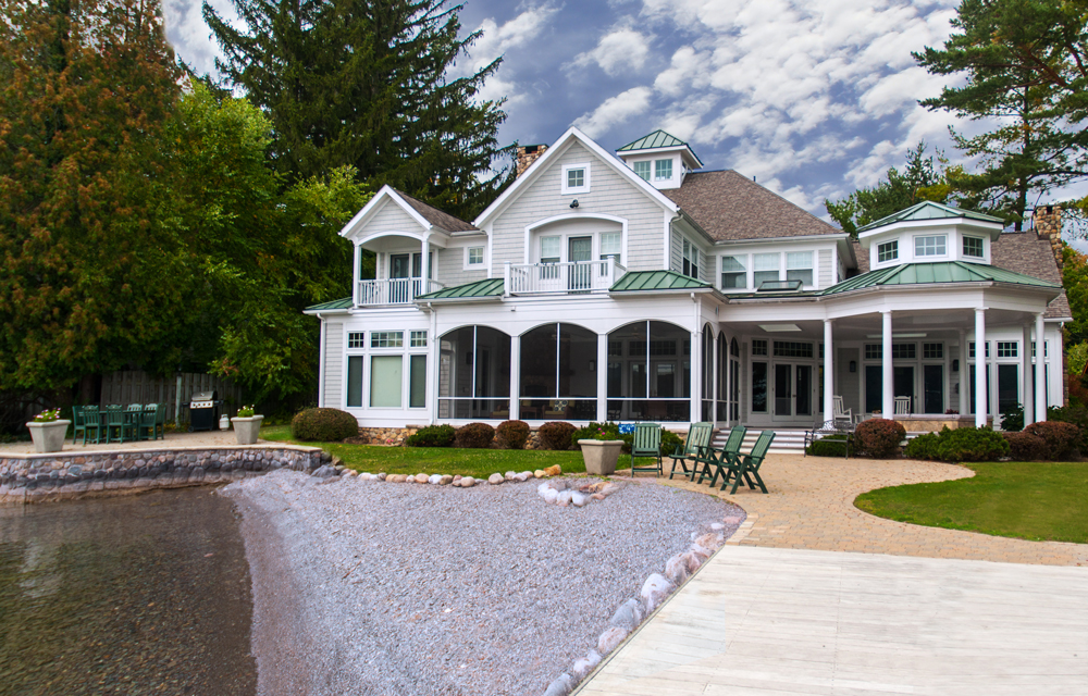 exterior of finger lakes vacation rental