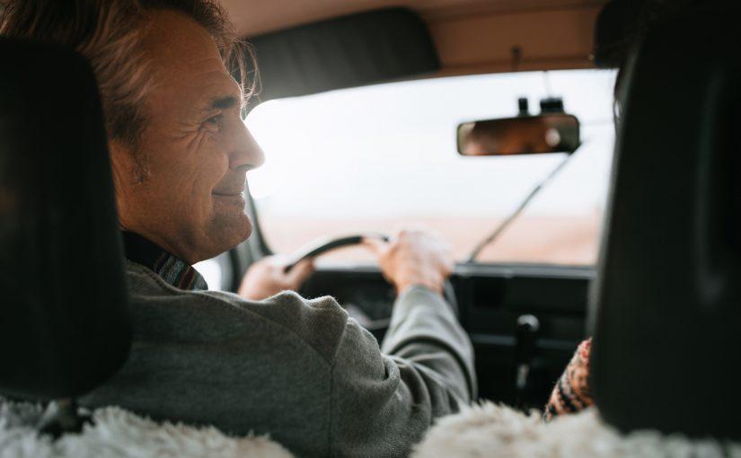 older couple road trip travel